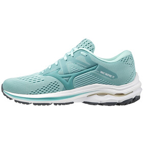 Mizuno Wave Inspire 17 Shoes Women, eggshell blue/dusty/pastel yellow